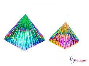 LichtKristall-Pyramiden 80x80mm