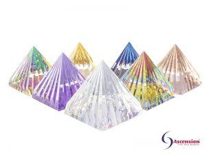 LichtKristall-Pyramiden 60x60mm